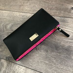 ✨💕NWT✨💕 Authentic Kate Spade Wallet-Black & Pink