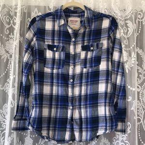 Lots of Blues Plaid Flannel Shirt