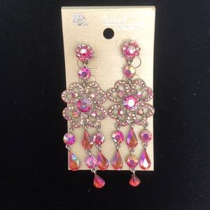 Jewelry - Silver and pink earrings