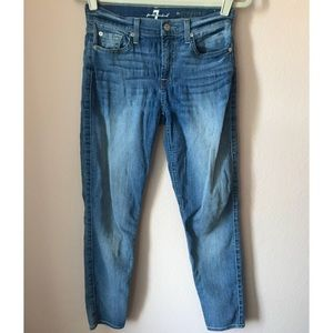 👖 7 for all mankind skinny cropped jeans 👖