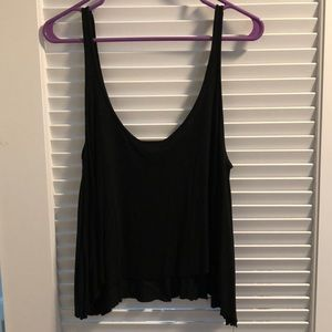 Topshop Tops - Black cami with embroidered flowers on the front