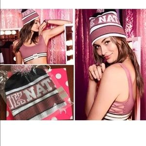 Victoria's Secret PINK Nation Beanie NWT!
