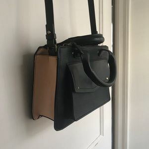 Zara city bag with front pocket