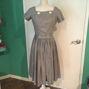 Vintage daisy gingham dress size 10