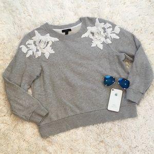 J. Crew Sweatshirt with 3-D Appliqué