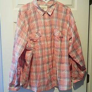 Lightweight plaid shirt