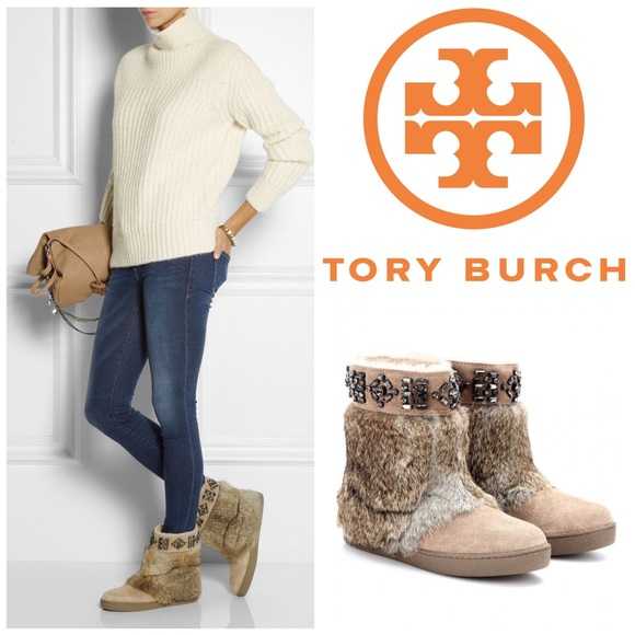 025939412 NWOB Tory Burch Dalton fur embellished. M 5a18d1def739bcd88e0970a3