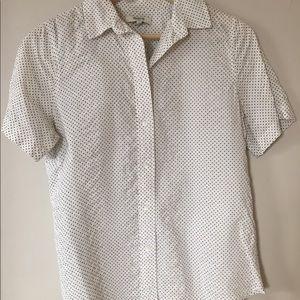 Madewell Short-Sleeve Shirt in Crinkledot