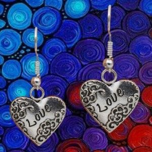 Jewelry - Heart Love Locket Earrings .