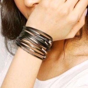 Jewelry - Black Layer Leather Bracelet