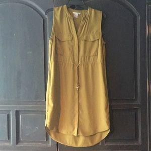 Green Sleeveless H&M Shirt Dress