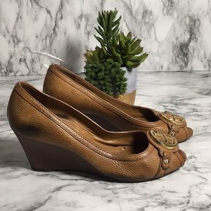 Tory Burch wedge open toe shoe