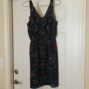 Blue Printed Dress - Size S