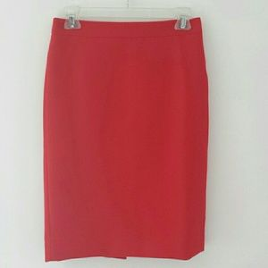 J.Crew No. 2 Pencil Skirt - Red - Size 0