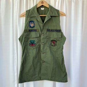 Vintage reworked military vest