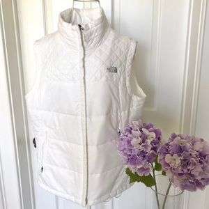 North Face women's white puffed vest