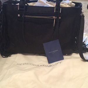 Rebecca Minkoff suede satchel with fringe