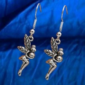 Jewelry - Fairy Dangling Earrings in Silver Tone  .