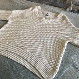 ❤️Old Navy Cream colored waffle sweater Medium ❤️