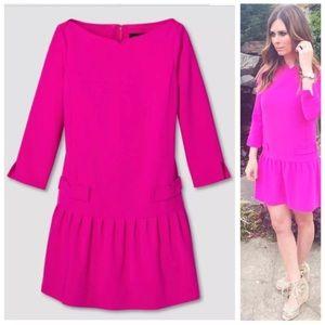 Victoria Beckham pink drop weight dress