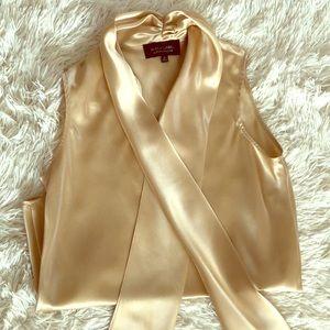Black Label Gold satin blouse