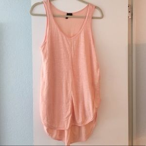 Anthropologie Left of Center Peach/Pink Tunic