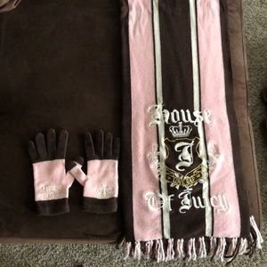 Juicy Couture Scarf and Gloves
