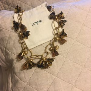 Authentic jcrew flower necklace