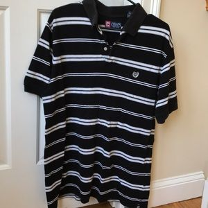 Chaps black and white polo shirt