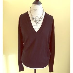 J. Crew Cashmere & Silk Deep V-neck Sweater