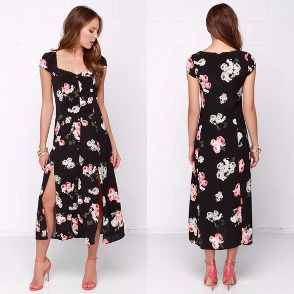 112638f18b Lulu s Dresses   Skirts - MINKPINK Moon Flower Floral Maxi Dress
