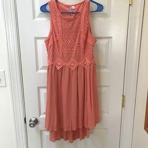 NWT Francesca's Peach/Orange Boho Dress