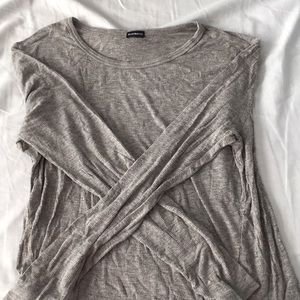 Grey ribbed brandy Melville long sleeve