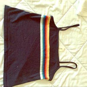 Brandy Melville Rainbow Faye Tank