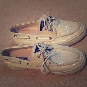 Sequin Sperry boat shoes