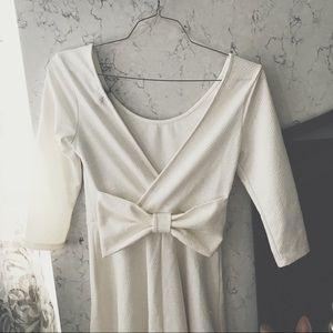 ULTRA FLIRT Backless Bow Dress