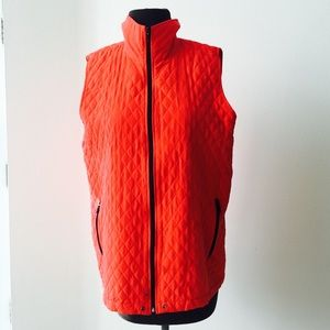 ❗️Chico's SILK Orange Vest MSRP $269!