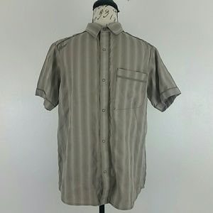 Prana Mens Snap Front Casual Shirt Embroidered
