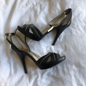 Michael Kors Black strappy Stiletto heels 6M