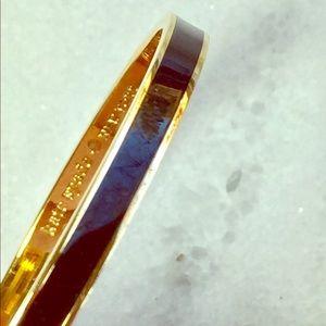 kate spade Draw the Line Black & Gold Bangle