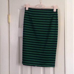 Green and black skirt