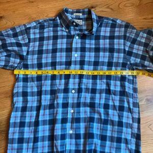 LLBean plaid button down shirt