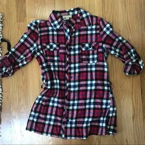 Forever 21 Red and Navy Flannel