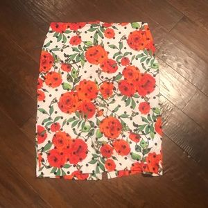 7th Avenue Floral Skirt Plus Size 16