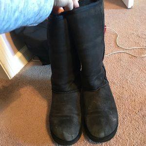 Women's Black tall UGG boots size 9