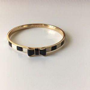 Kate Spade black and cream bow bracelet
