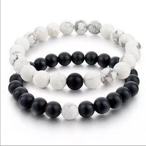Jewelry - Natural Stone Couples' Love Distance Bracelet Set