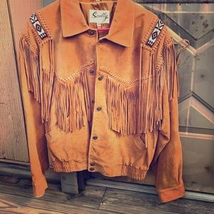 Scully size 40 Suede Fringe/ Beaded Jacket