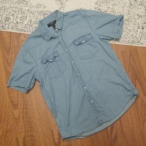 Men's Chambray Pearl Snap Shirt