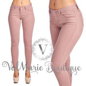 Mauve Stretchy Skinny Jeans